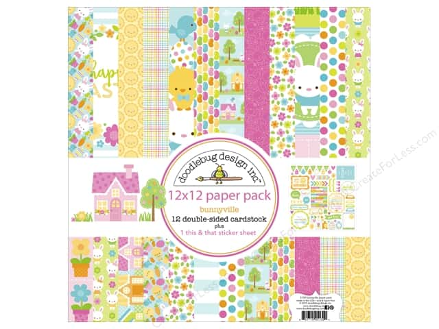Doodlebug 12 x 12 in. Paper Pack Bunnyville