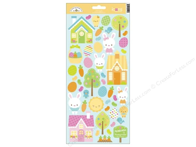Doodlebug Sticker Bunnyville Icon (12 sets)