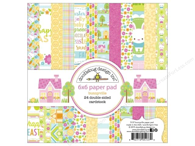 Doodlebug 6 x 6 in. Paper Pad Bunnyville