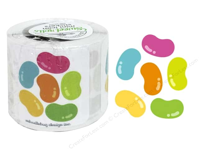 Doodlebug Sweet Roll Stickers Bunnyville Jelly Bean