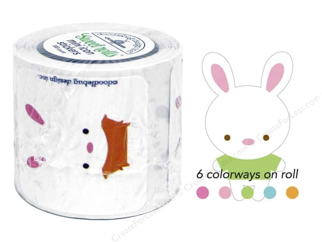 Doodlebug Sweet Roll Stickers Bunnyville Bunnies
