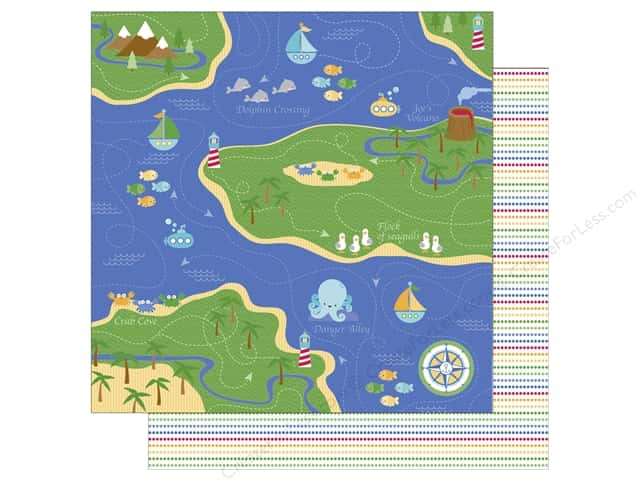 Doodlebug 12 x 12 in. Paper Anchors Aweigh Fisherman's Cove (25 sheets)