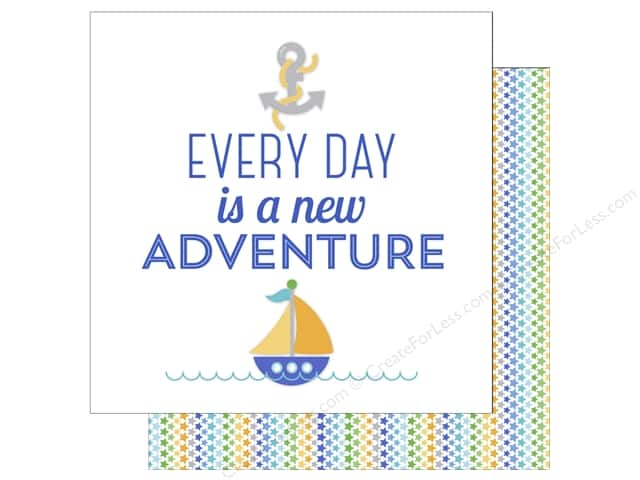 Doodlebug 12 x 12 in. Paper Anchors Aweigh New Adventure (25 sheets)