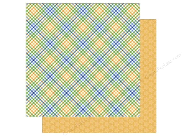 Doodlebug 12 x 12 in. Paper Anchors Aweigh Nautical Plaid (25 sheets)