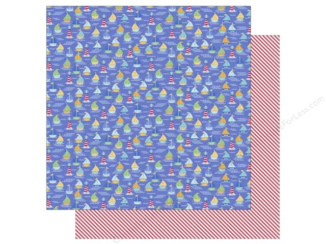 Doodlebug 12 x 12 in. Paper Anchors Aweigh Ships Ahoy (25 sheets)