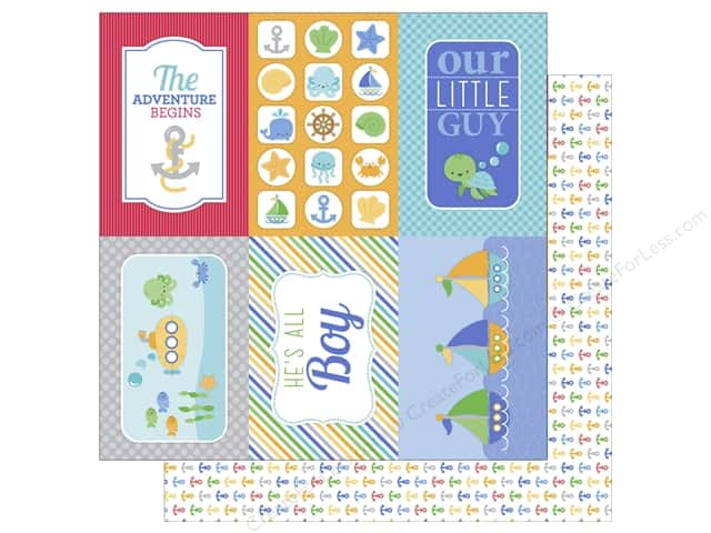 Doodlebug 12 x 12 in. Paper Anchors Aweigh (25 sheets)