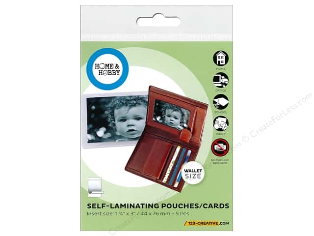 3L Home & Hobby Self Laminating Pouch 1 3/4 x 3 in. 5 pc.