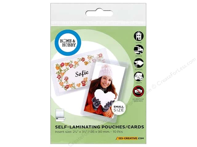 3L Home & Hobby Self Laminating Pouch 2 1/4 x 3 1/2 in. 10 pc.