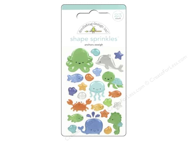 Doodlebug Sprinkles Stickers Anchors Aweigh Shapes
