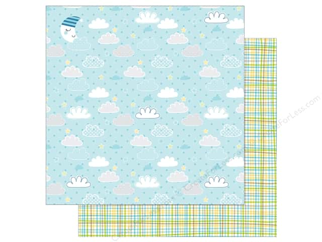 Bella Blvd 12 x 12 in. Paper Cute Baby Boy Barely A Wink (25 sheets)