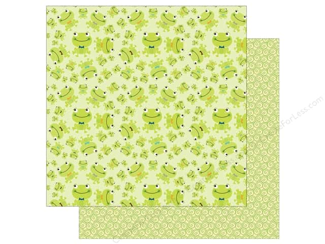 Bella Blvd 12 x 12 in. Paper Cute Baby Boy Prince Frog (25 sheets)