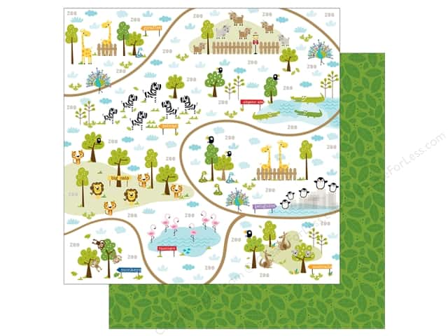 Bella Blvd 12 x 12 in. Paper Zoo Crew Zoo Trails (25 sheets)