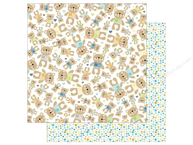 Bella Blvd 12 x 12 in. Paper Cute Baby Boy Mr. Teddy (25 sheets)
