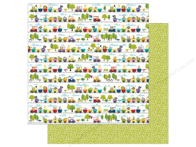 Bella Blvd 12 x 12 in. Paper Zoo Crew Train Ride (25 sheets)