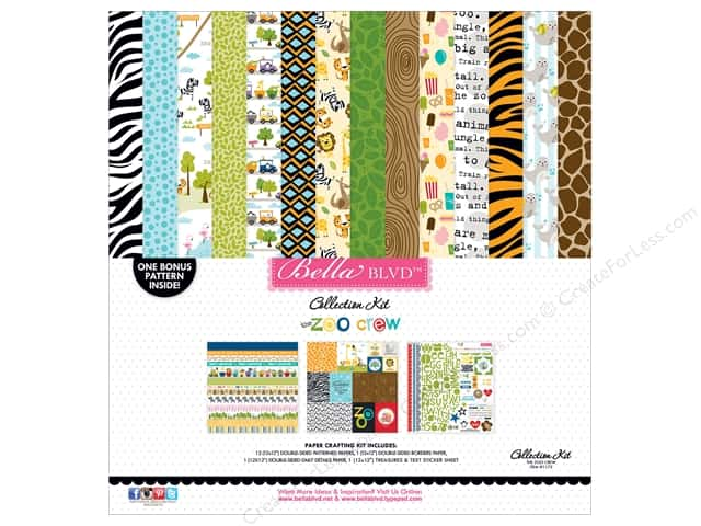 Bella Blvd 12 x 12 in. Collection Kit Zoo Crew