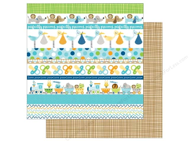 Bella Blvd 12 x 12 in. Paper Cute Baby Boy Borders (25 sheets)