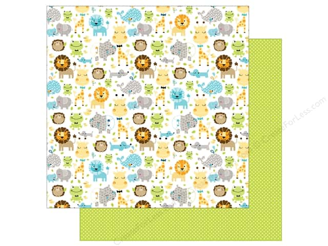 Bella Blvd 12 x 12 in. Paper Cute Baby Boy Jungle Jammies (25 sheets)