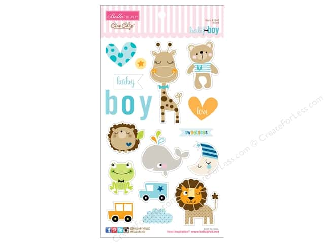 Bella Blvd Chipboard Icons Cute Baby Boy