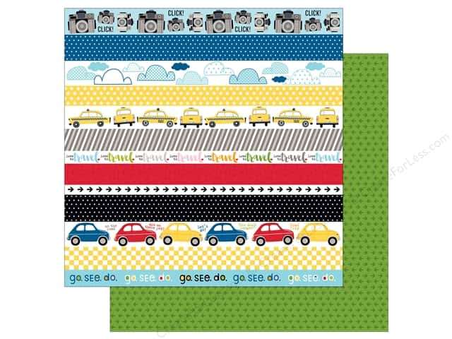 Bella Blvd 12 x 12 in. Paper Let's Go Borders (25 sheets)