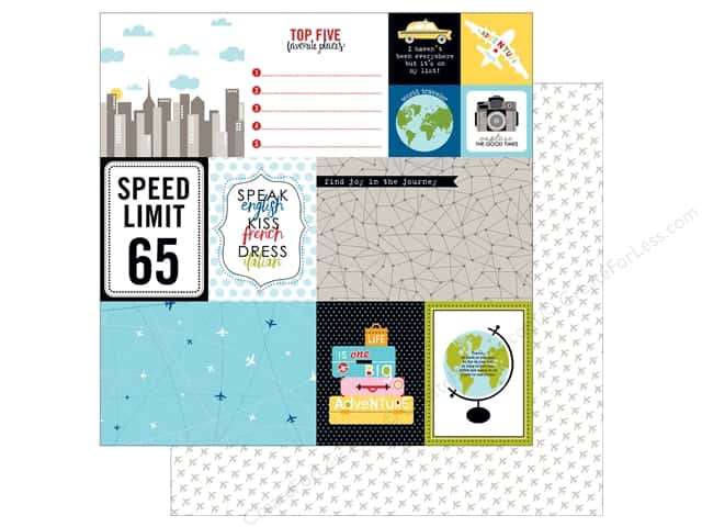 Bella Blvd 12 x 12 in. Paper Let's Go Daily Details (25 sheets)