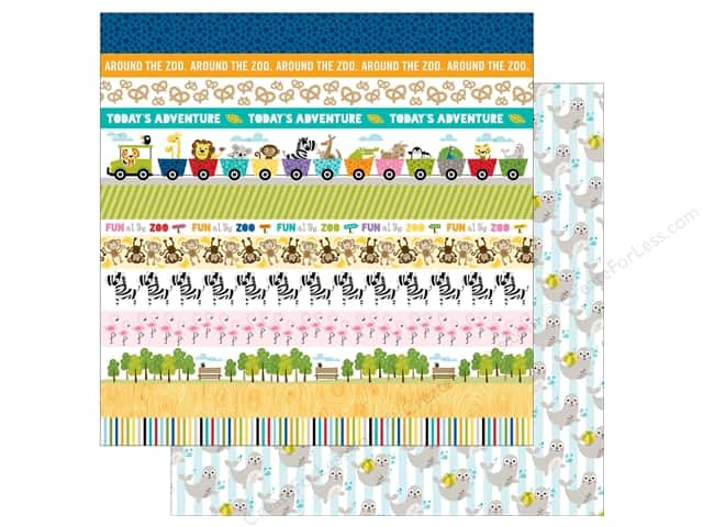 Bella Blvd 12 x 12 in. Paper Zoo Crew Borders (25 sheets)