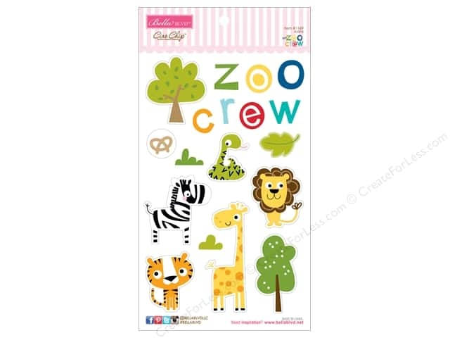Bella Blvd Chipboard Icons Zoo Crew