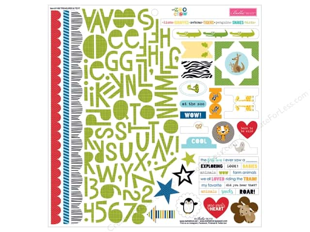 Bella Blvd Stickers Zoo Crew Treasures & Text (12 sheets)