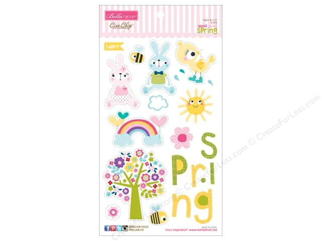 Bella Blvd Chipboard Icons Sweet Spring