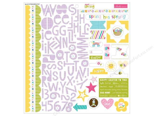 Bella Blvd Stickers Sweet Sweet Spring Treasures & Text (12 sheets)