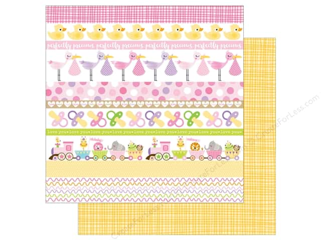 Bella Blvd 12 x 12 in. Paper Sweet Baby Girl Borders (25 sheets)