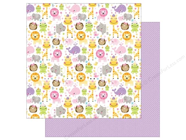 Bella Blvd 12 x 12 in. Paper Sweet Baby Girl Sweet Safari (25 sheets)