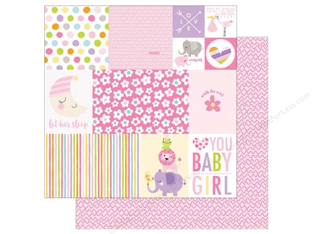 Bella Blvd 12 x 12 in. Paper Sweet Baby Girl Daily Details (25 sheets)