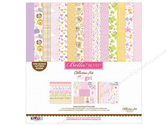 Bella Blvd 12 x 12 in. Collection Kit Sweet Baby Girl