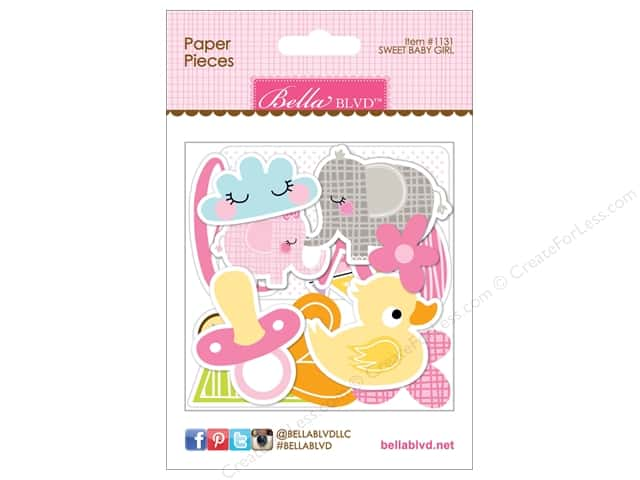 Bella Blvd Die Cut Paper Pieces Sweet Baby Girl
