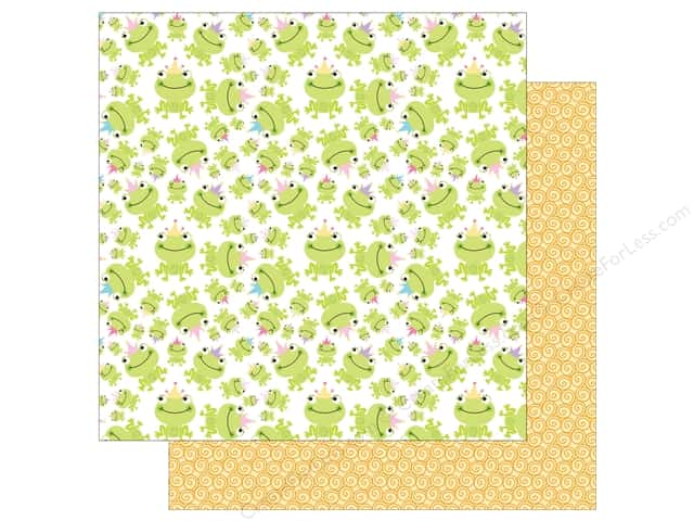 Bella Blvd 12 x 12 in. Paper Sweet Baby Girl Princess Frog (25 sheets)