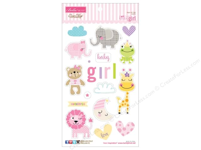 Bella Blvd Chipboard Icons Sweet Baby Girl