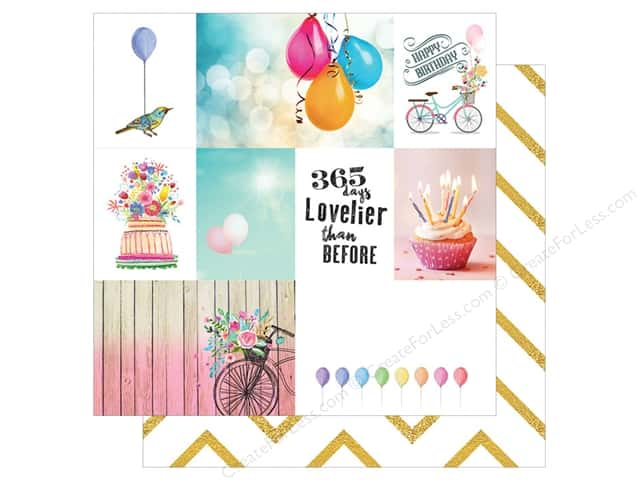 Webster's Pages 12 x 12 in. Paper Make A Wish 365 Days (25 sheets)