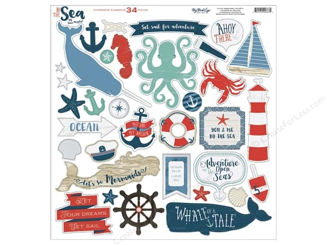My Mind's Eye Collection By The Sea Chipboard Elements