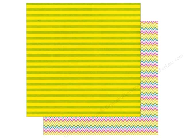 Doodlebug 12 x 12 in. Paper Spring Garden Lemon Lime (25 sheets)