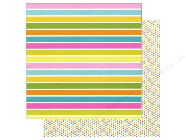 Doodlebug 12 x 12 in. Paper Spring Garden Fruit Stripe (25 sheets)