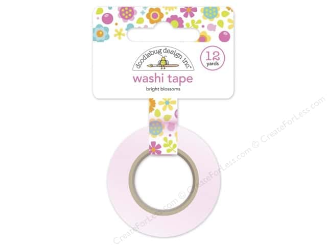 Doodlebug Washi Tape 5/8 in. x 12 yd. Spring Garden Bright Blossoms