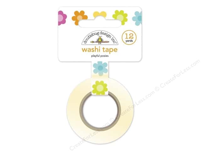 Doodlebug Washi Tape 5/8 in. x 12 yd. Spring Garden Playful Posies