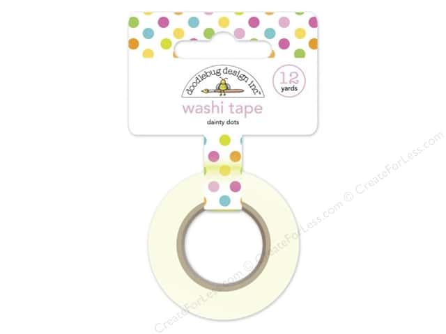 Doodlebug Washi Tape 5/8 in. x 12 yd. Spring Garden Dainty Dots