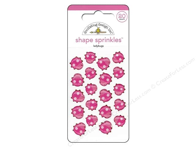 Doodlebug Sprinkles Stickers Spring Garden Ladybugs Shapes