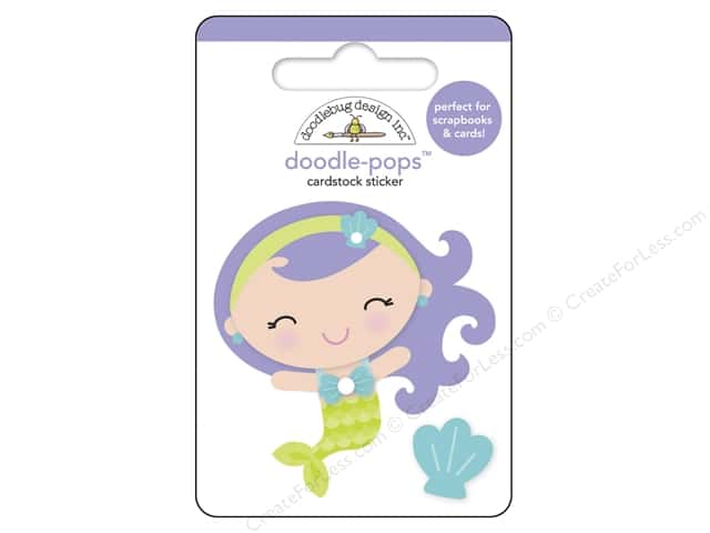 Doodlebug Doodle-Pops 3-D Stickers Under The Sea Mini Mermaid