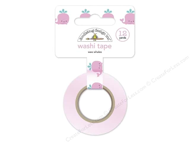 Doodlebug Washi Tape 5/8 in. x 12 yd. Under The Sea Wee Whales