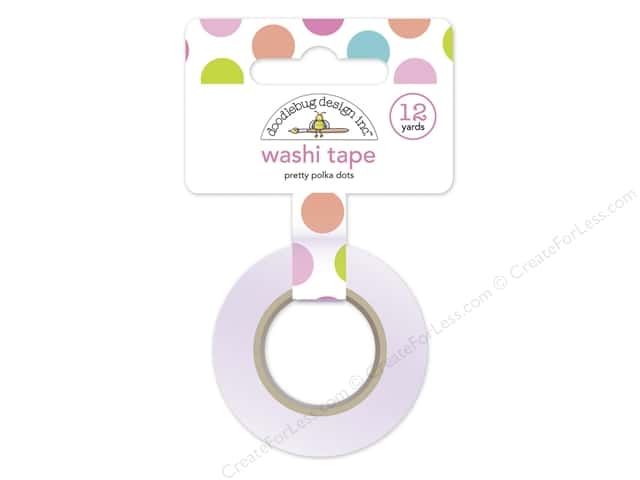 Doodlebug Washi Tape 5/8 in. x 12 yd. Under The Sea Pretty Polka Dot