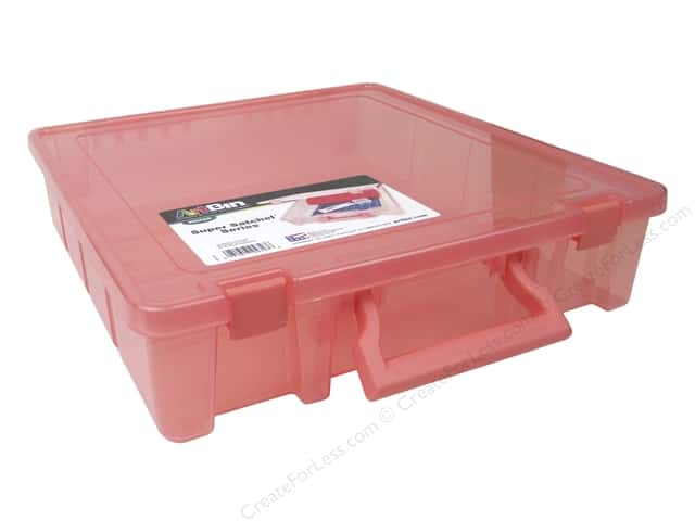 ArtBin Super Satchel 1-Compartment Translucent Coral