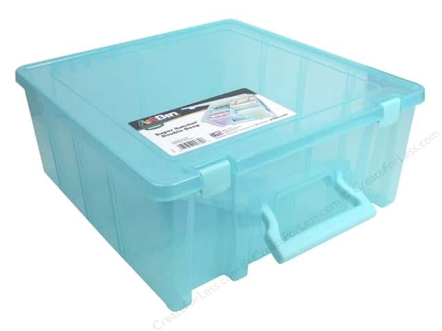 ArtBin Super Satchel Double Deep Translucent Aqua