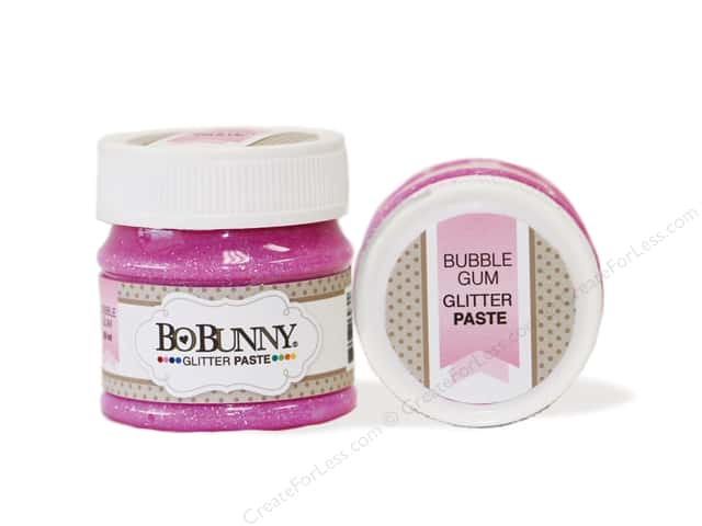 Bo Bunny Glitter Paste 1.69 oz. Bubble Gum